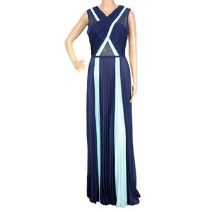 BCBGMaxazria Caia Chiffon-Pleated Gown